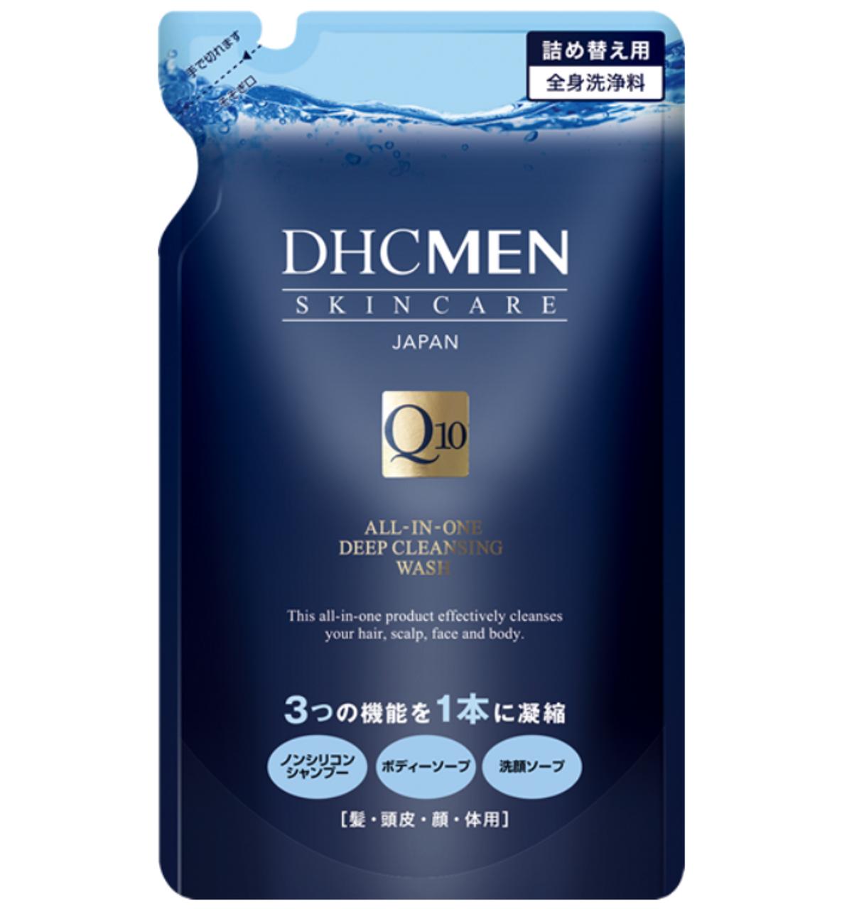 DHC Men All-in-one Deep Cleansing Wash – сменный блок, средство для тела, лица и волос