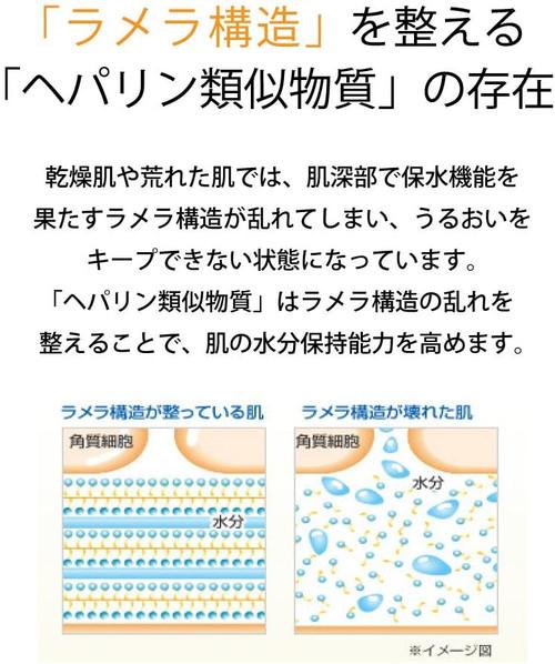 Ламеллярная структура кожи, слева в порядке, справа нарушена.