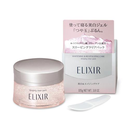 Shiseido Elixir White Sleeping Clear Pack Ночная осветляющая гель-маска