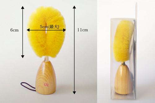 Yukimayu Gold Silk Brush Щетка из необработанного шелка для умывания лица