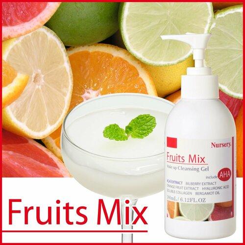 Nursery Makeup Cleansing Gel Fruit Mix Очищающий гель с фруктовыми кислотами