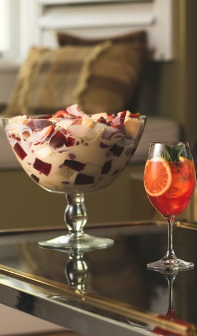 Non Alcoholic Strawberry, Peaches & Cream Trifle Recipe