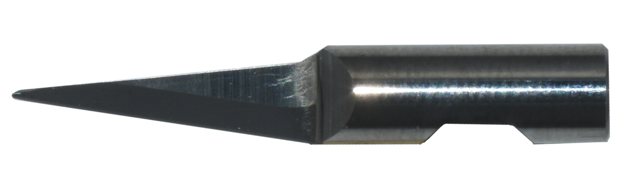 Oscillating Blade K6 Solid Carbide - 6MM Round Shank - 15MM Cut Length round Point Double Edge 15mm x 81.5° 36mm Overall Length. Fits KH6 Holder