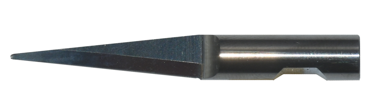 Oscillating Blade K10 Solid Carbide - 6MM round Shank - 25MM Cut Length Round Point Double Edge 25MM x 83.9 Degree x 46MM Overall Length.