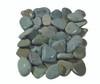 Flat Green Pebbles Wet