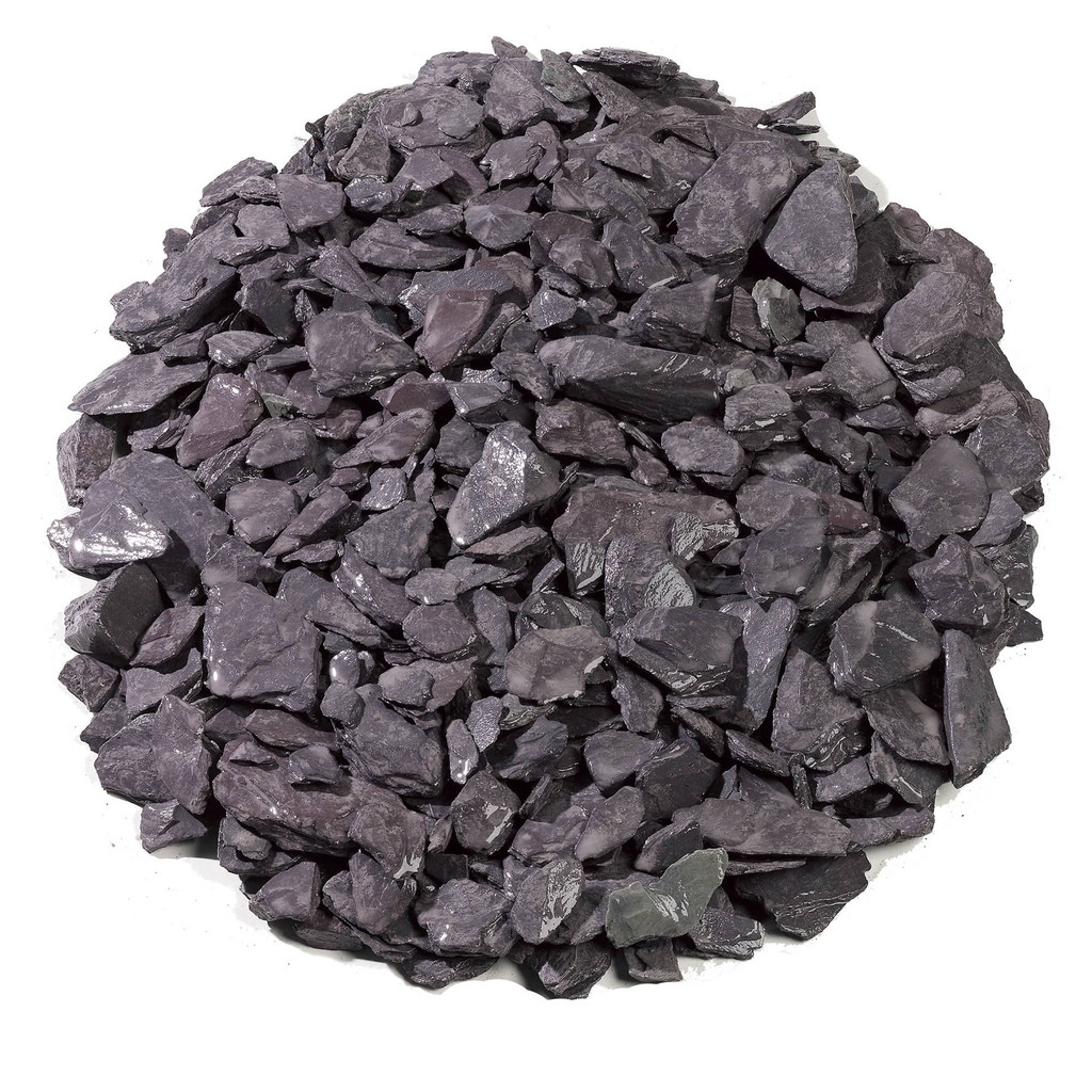 Crushed Blue Slate Aggregate Wet