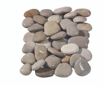 Flat Beige Pebbles Wet