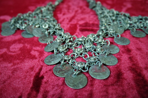 North African Tribal Coin Necklace - Estate of renowned belly dancer Serena Wilson