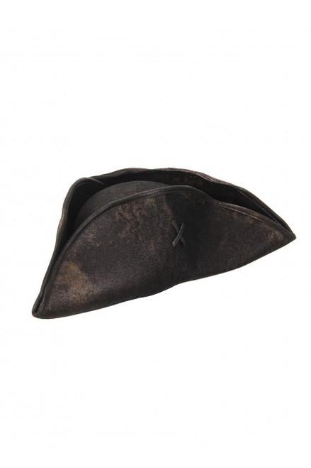 Black Scallywag Tricorne Hat