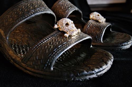 Rhinestone Pirate Shoe Clips
