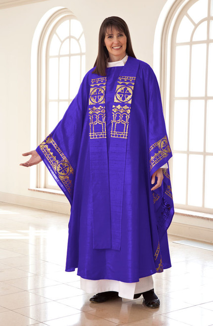 Abbey Chasuble Set (Avg/Blue)