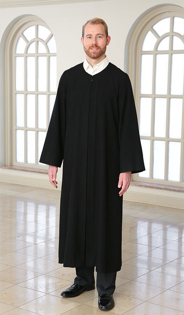 Black robe, pulpit robe, preaching robe