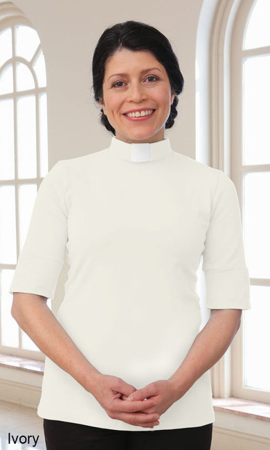 Short Sleeve Knit Shirt (Tab Collar)