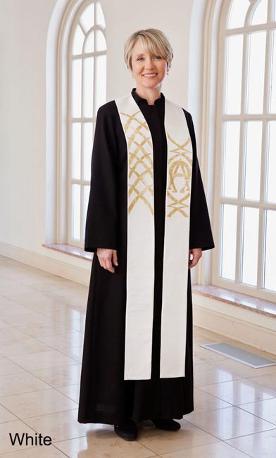 Alpha Omega Stole (Pastor or Deacon)