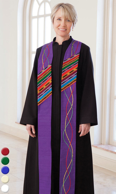 Guatemalan River of Life Stole (Pastor or Deacon)