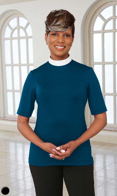 Short Sleeve Dressy Blouse (Neckband)