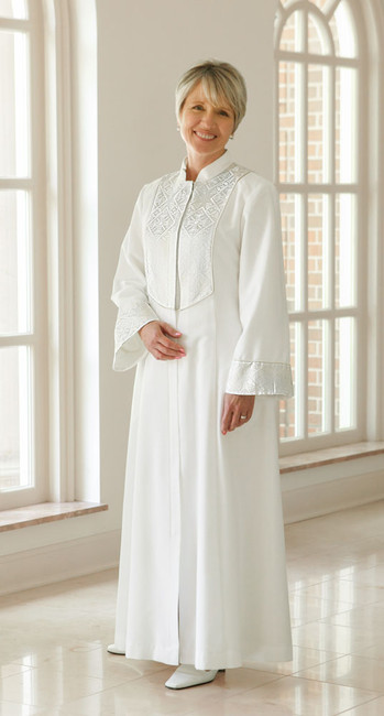 Esther with Brocade (1X/White/Lined) 32/53