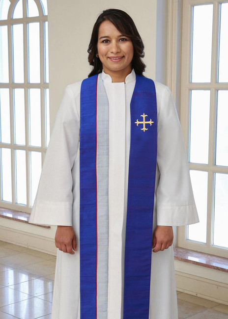 Faith with Greek Cross (Avg. Length/Blue)