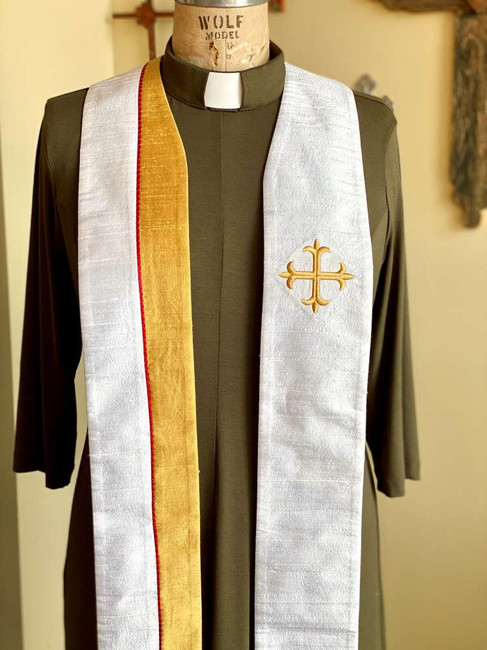 Faith with Greek Cross (Avg. Length/White)