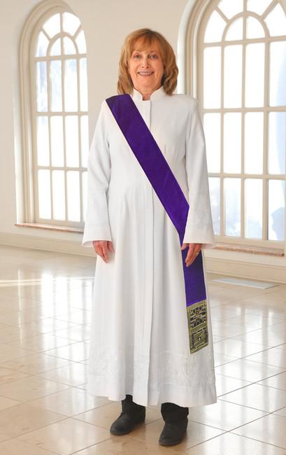 Cross Brocade (Deacon/Purple)
