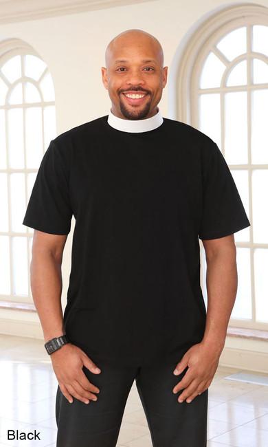 Men's Knit Clergy Shirt (Neckband)
