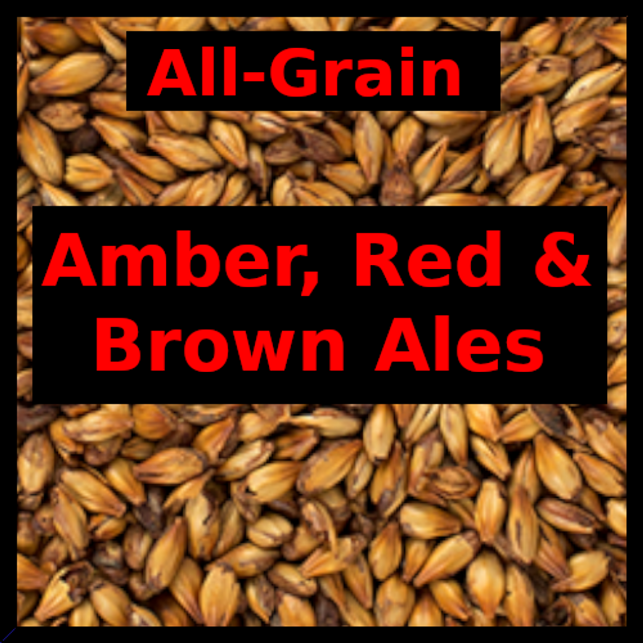 Amber, Red & Brown Ales - All Grain