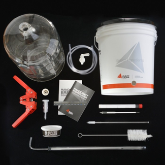 Beer Equipment Starter Kit with 6 Gallon Glass Carboy (K6)