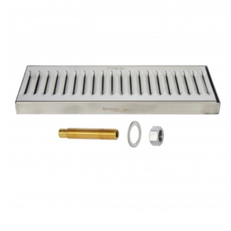 "5"" x 12"" Surface Drip Tray (With Drain)"