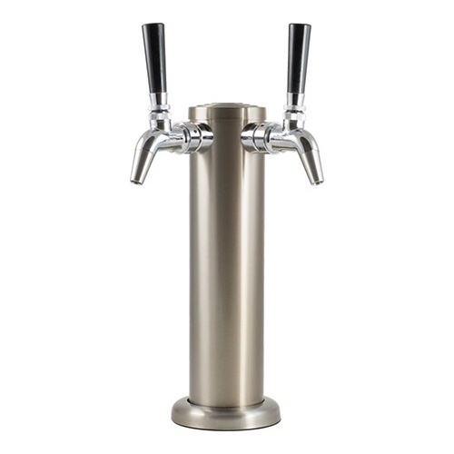 KOMOS® Stainless Draft Tower With Intertap Faucets - 2 Faucet