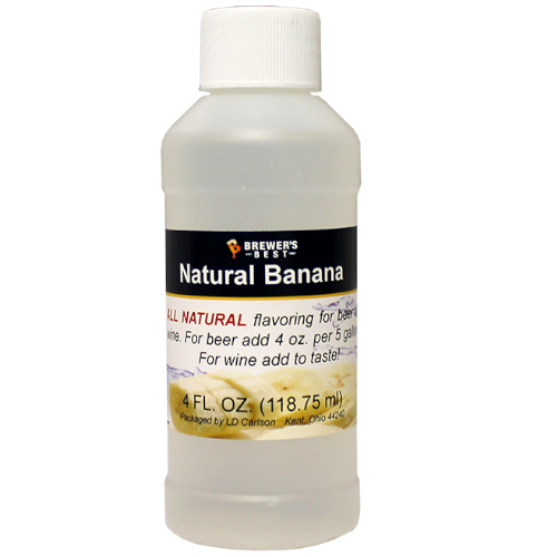 Natural Banana Flavoring - 4 oz