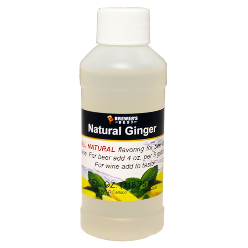 Natural Ginger Flavoring Extract - 4 oz