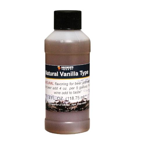 Natural Vanilla Type Flavoring - 4 oz