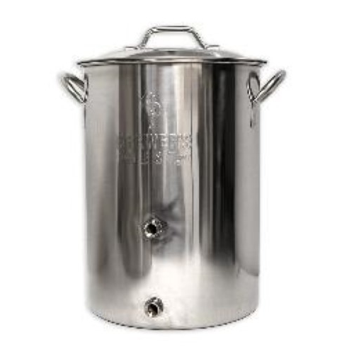 8 Gallon Brewer's Best Basic Brewing Kettle With 2 Ports