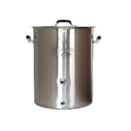 8 Gallon Brewer's Best Beast Brewing Kettle With 2 Ports - Tri-Clad Bottom