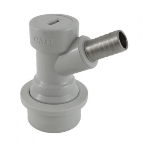"Ball Lock Gray Gas Disconnect - 3/8"" Barb"