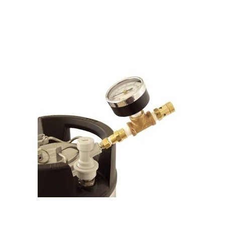 Ball Lock Pressure Relief Valve w/ Gauge