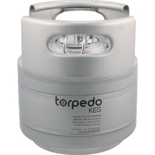1.5 Gallon Torpedo Ball Lock Keg - Dual Metal Handles