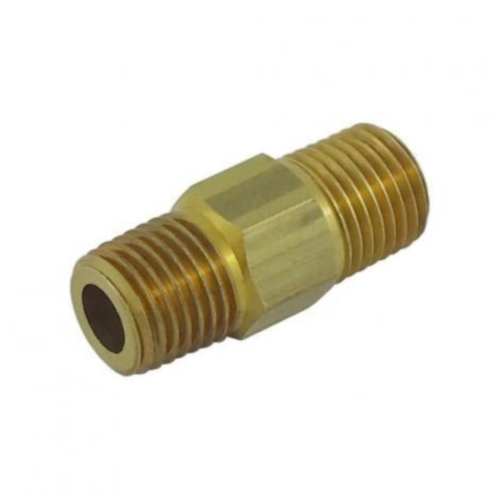 Brass Nipple - 1/4 (RHT) x 1/4 (LHT)