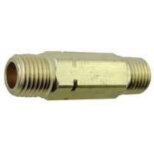 Brass Nipple - 1/4 mpt x 1/4 mpt