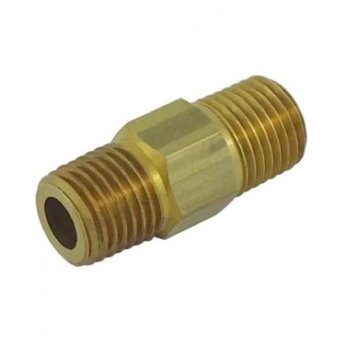 Brass Nipple - 1/4 mpt x 1/4 mpt (LHT)