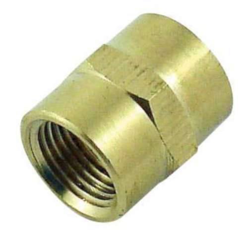 """Brass Coupler - 1/2"""" fpt x 1/2"""" fpt"""