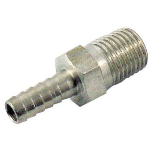 """Hose Stem - 1/2"""" barb X 1/2"""" mpt Stainless Steel"""