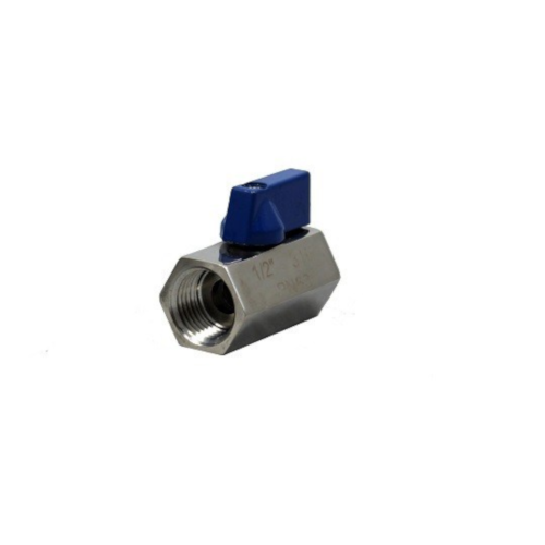 "Mini Stainless Steel Ball Valve - 1/2"" MPT x 1/2"" MPT"