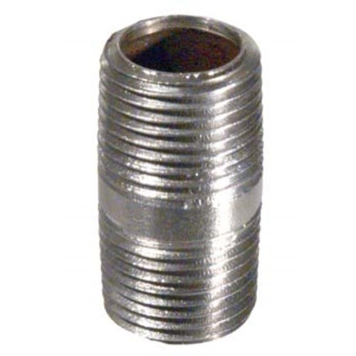 """Nipple - 1/2"""" MPT - 1.5"""" Long (Stainless)"""