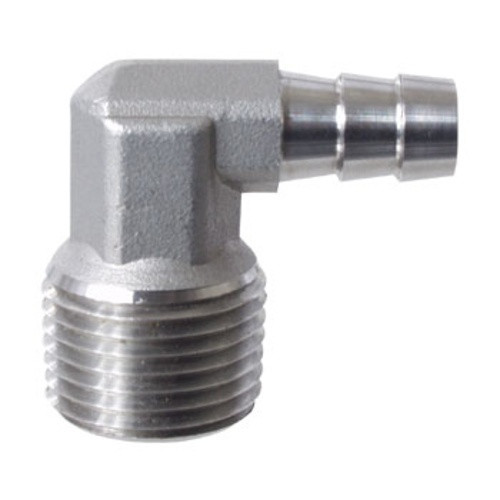 """Stainless Steel Elbow with 1/2"""" MPT and 3/8"""" Barb"""