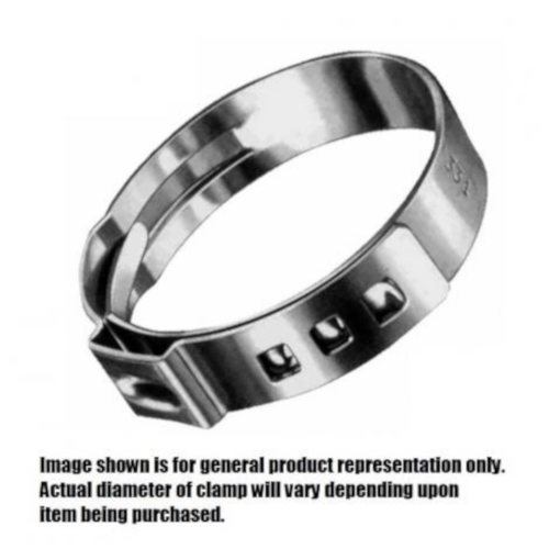 """Stepless Clamp (Oetiker Stainless Steel) - No. 15.7 (0.520"""" - 0.618"""")"""