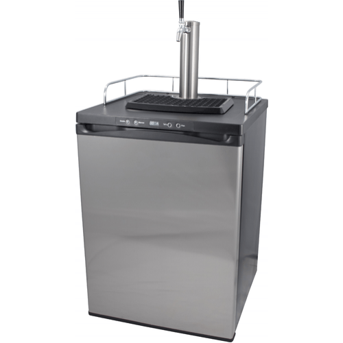 Komos Kegerator with Stainless Steel Intertap Faucets - 1 Tap