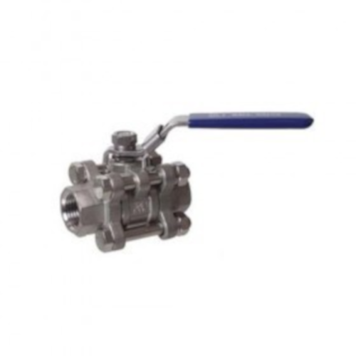 "Ball Valve - 3 Piece - 1/2"" Stainless"
