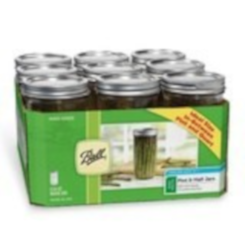 Wide Mouth Ball Mason Jar - Pint & Half (24 oz) - 9 Count