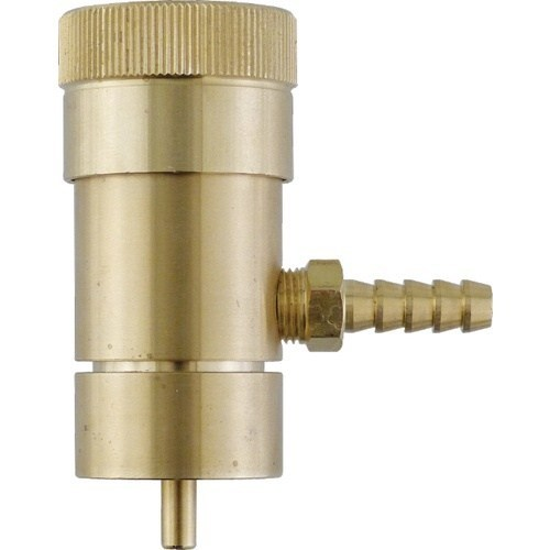 "Oxygen Regulator with 1/4"" Barb Output for Disposable Oxygen Tanks"